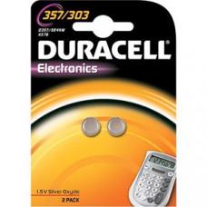 DURACELL 357/303 ZILVEROXIDE 1,5 VOLT - BP2