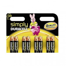 8 ST.DURACELL SIMPLY ALKALINE AA