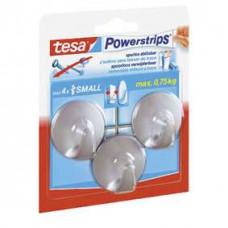 TESA POWERSTRIPS SMALL ROND CHROOM 0 0 TRANSPARANT