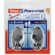 TESA POWERSTRIPS LARGE OVAAL CHROOM 12 0 CHROOM