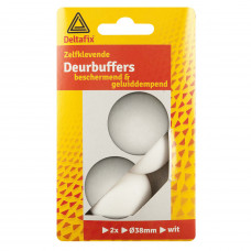 DEURBUFFERS WIT 38 MM ROND 2 ST