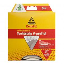 TOCHTSTRIP V-PROF. EPDM WIT 6 M 9MM 7MM