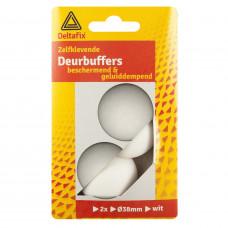 DEURBUFFERS BRUIN 38 MM ROND 2 ST