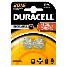 DURACELL CR2016 LITHIUM 3 VOLT - BP2